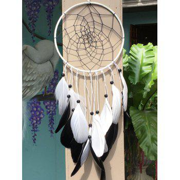 Dreamcatcher Feather Circle Beads Wall Hanging Home Decoration