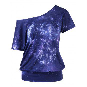 Skew Collar Galaxy T-Shirt