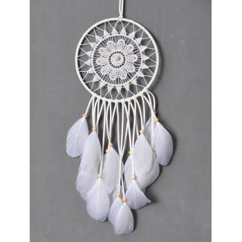 Dreamcatcher Feather Crochet Floral Wall Hanging Home Decoration