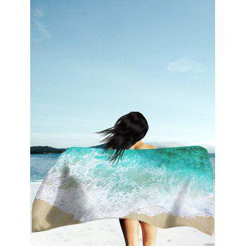 Sea Tides Print Polyester Fabric Beach Throw
