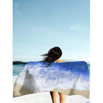 Sea Tides Printing Rectangle Beach Throw - BLUE BLUE