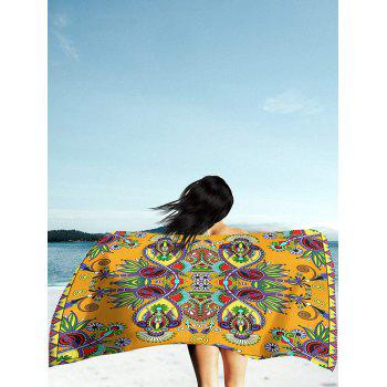 Rectangle Beach Throw with Flower Print