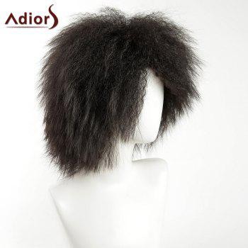 Adiors Afro Short Shaggy Side Bang Men Synthetic Wig -  BLACK