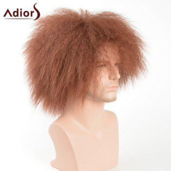 Adiors Short Shaggy Men Natural Afro Synthetic Wig -  COLORMIX