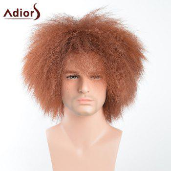 Adiors Short Shaggy Men Natural Afro Synthetic Wig