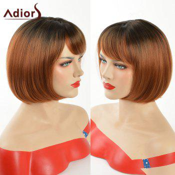 Adiors Silky Straight Short Bob Side Bang Synthetic Wig
