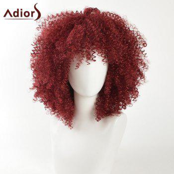 Adiors Fashion Kinky Curly Medium Shaggy Afro Synthetic Hair