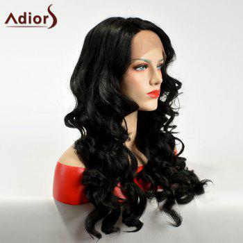 Adiors Long Lace Front Side Part Body Wave Synthetic Hair - BLACK
