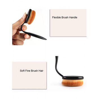 MAANGE 4 Pcs Oval Makeup Brushes Set -  BLACK