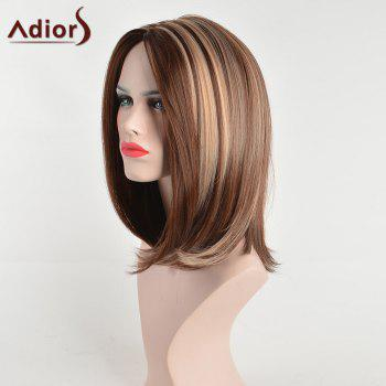 Adiors Medium Slight Hightlight Side Part Straight Bob Synthetic Hair