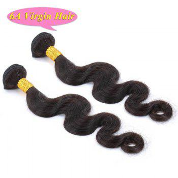 Virgin Hair Weave chinoise de la mode vague de corps noir naturel 6A Femmes 2 Pcs / Lot - Noir 16INCH*16INCH
