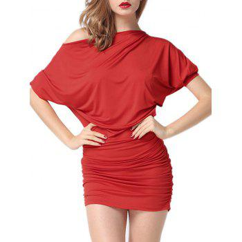 Batwing Sleeve Ruched Intimate Dress
