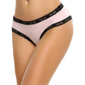 Lace Insert Cut Out Panty - ONE SIZE ONE SIZE