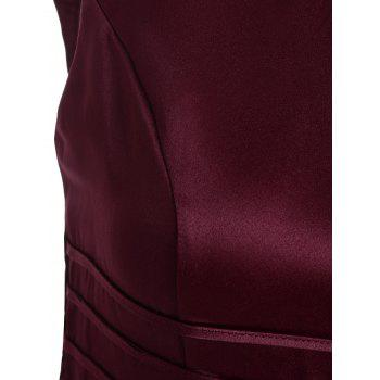 Vintage Sweetheart Neck Fit and Flare Prom Dress - WINE RED WINE RED