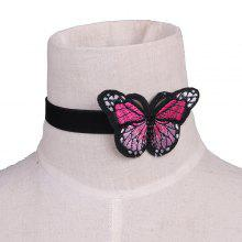 Butterfly Embellished Embroidery Velvet Choker Necklace