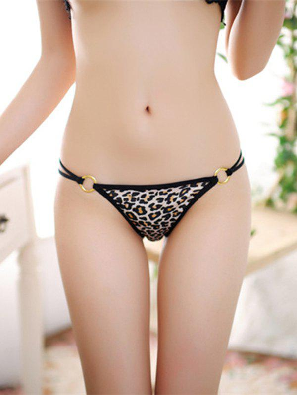 Dual Straps Leopard T Back - LIGHT BROWN ONE SIZE