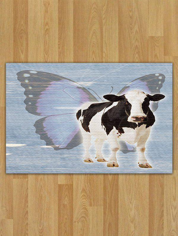 Butterfly Cow Pattern Area Rug