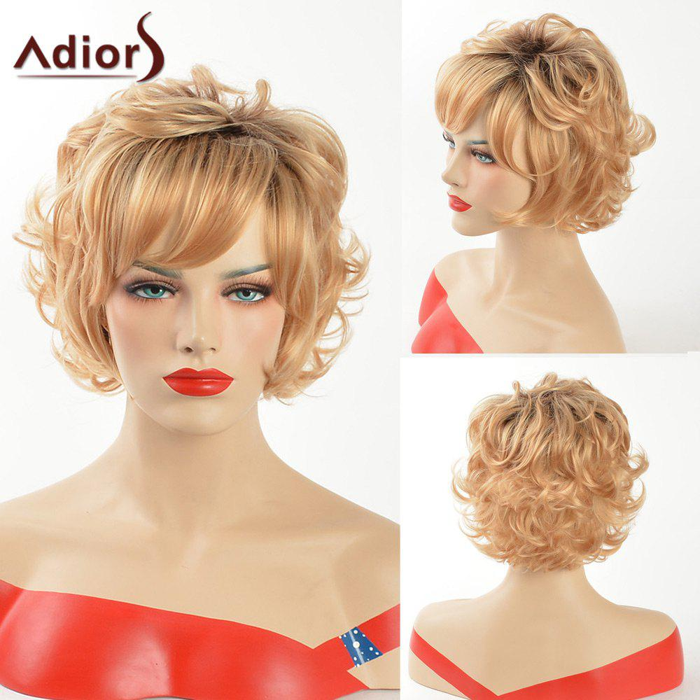 Adiors Short Dark Root Curly Side Bang Synthetic Hair the teeth with root canal students to practice root canal preparation and filling actually