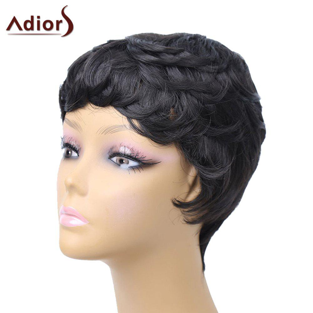 Adiors Pixie Layered Slightly Curled Side Bang Short Synthetic Wig adiors layered slightly curled side bang short synthetic hair