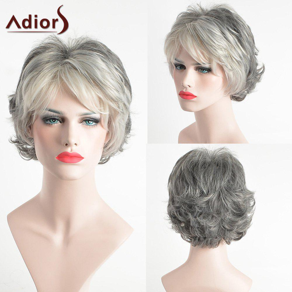 Adiors Pixie Colormix Side Bang Slightly Curled Short Synthetic Hair adiors layered slightly curled side bang short synthetic hair