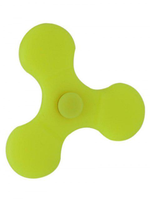 Silicone Hand Spinning Toy Finger Gyro - YELLOW 7*7CM
