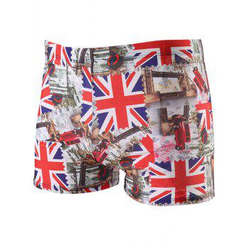 Lace Up Union Flag Printed Swimming Trunks