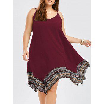 Plus Size Asymmetric Slip Dress