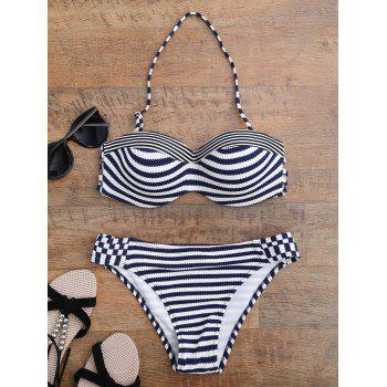 Stripe Push Up Bikini Set