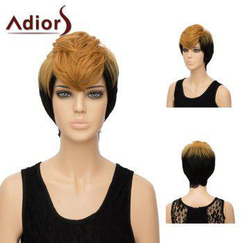 Adiors Short Straight Layered Side Bang Two Tone Synthetic Hair
