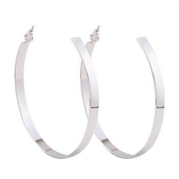 Plating Open Hoop Earrings
