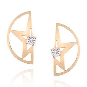 Rhinestone Hollowed Star Stud Earrings