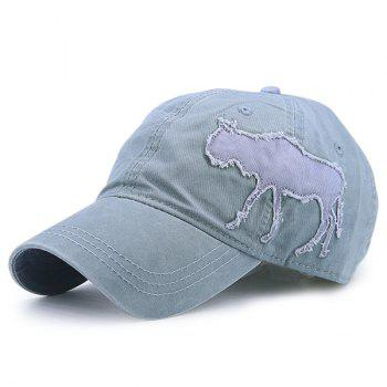 Denim Gnu Shape Patchwork Baseball Hat