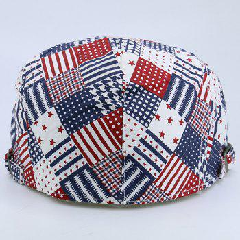 Plaid Stars Stripe American Element Newsboy Hat - CHECKED