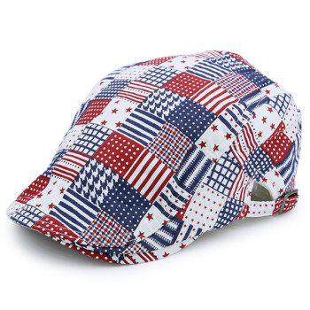 Plaid Stars Stripe American Element Newsboy Hat