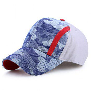 Single Stria Camo Splicing Baseball Cap
