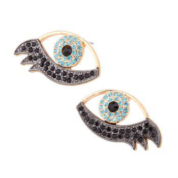 Alloy Rhinestoned Devil Eye Earrings