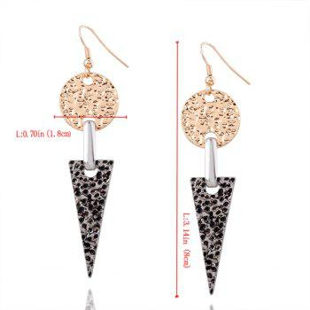 Circle Triangle Alloy Hook Earrings - multicolorCOLOR