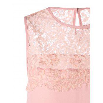 Longline Lace Trim Sleeveless Blouse - M M