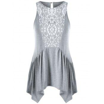 Lace Panel Swing Tank Top