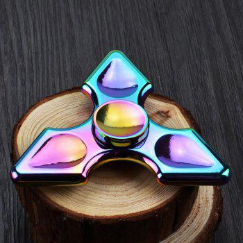 Colorful Metal Anxiety Relief Toy Hand Fidget Spinner - COLORFUL 8.5*8.5CM