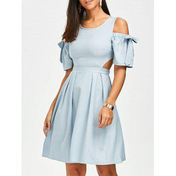Bowknot Cold Shoulder Cut Out Dress