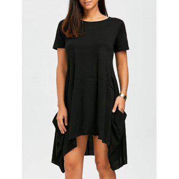 Pockets Oversized Asymmetrical Dress
