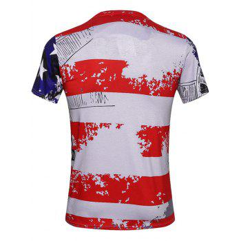 Sculpture Print Patriotic T-Shirts - 3XL 3XL