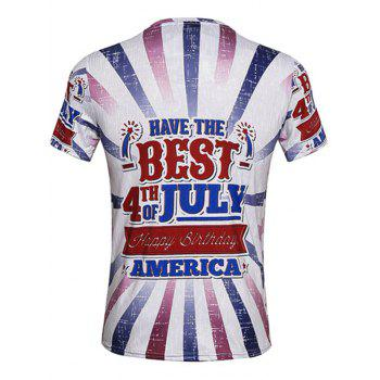 Fourth Of July Graphic Printed T-Shirt - COLORMIX COLORMIX