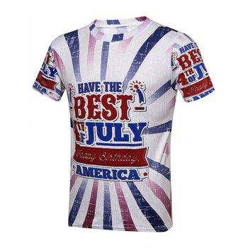 Fourth Of July Graphic Printed T-Shirt