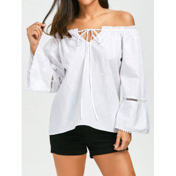 Full Sleeve Off The Shoulder Top - WHITE WHITE