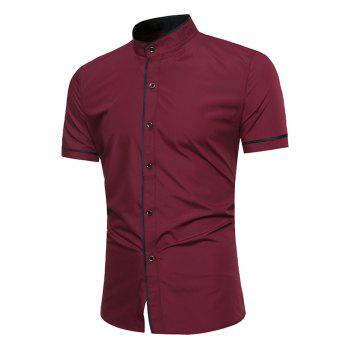 Grandad Collar Two Tone Shirt