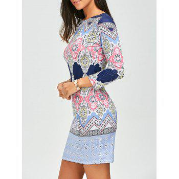 Fitted Geometric Print Dress