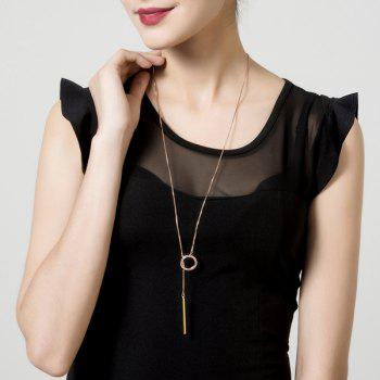 Bar Circle Lariat Necklace