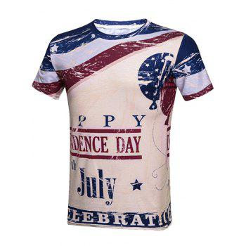 Fourth Of July Graphic Print T-Shirt